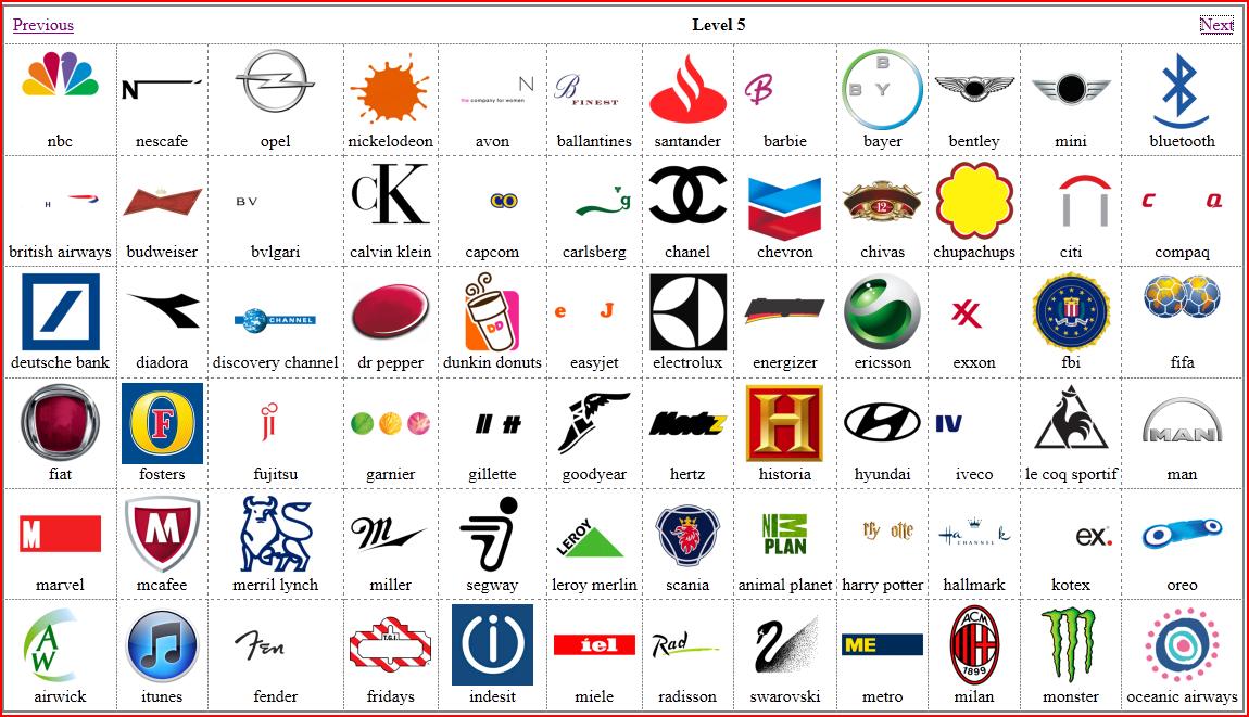 Logos gallery picture quiz game logos - Quiz cuisine francaise ...
