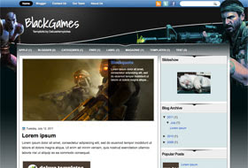 BlackGames Blogger Template