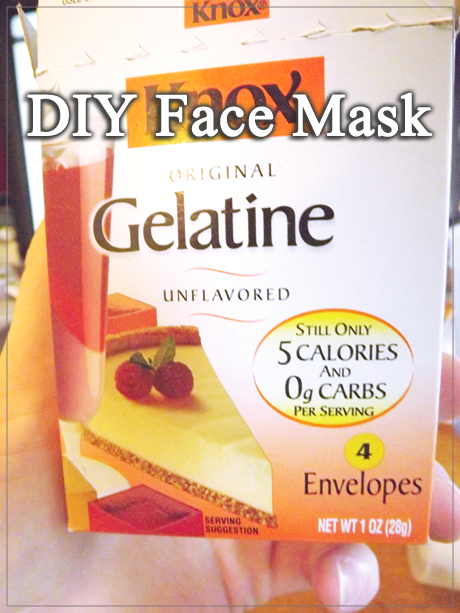 DIY Face Mask from Gelatin