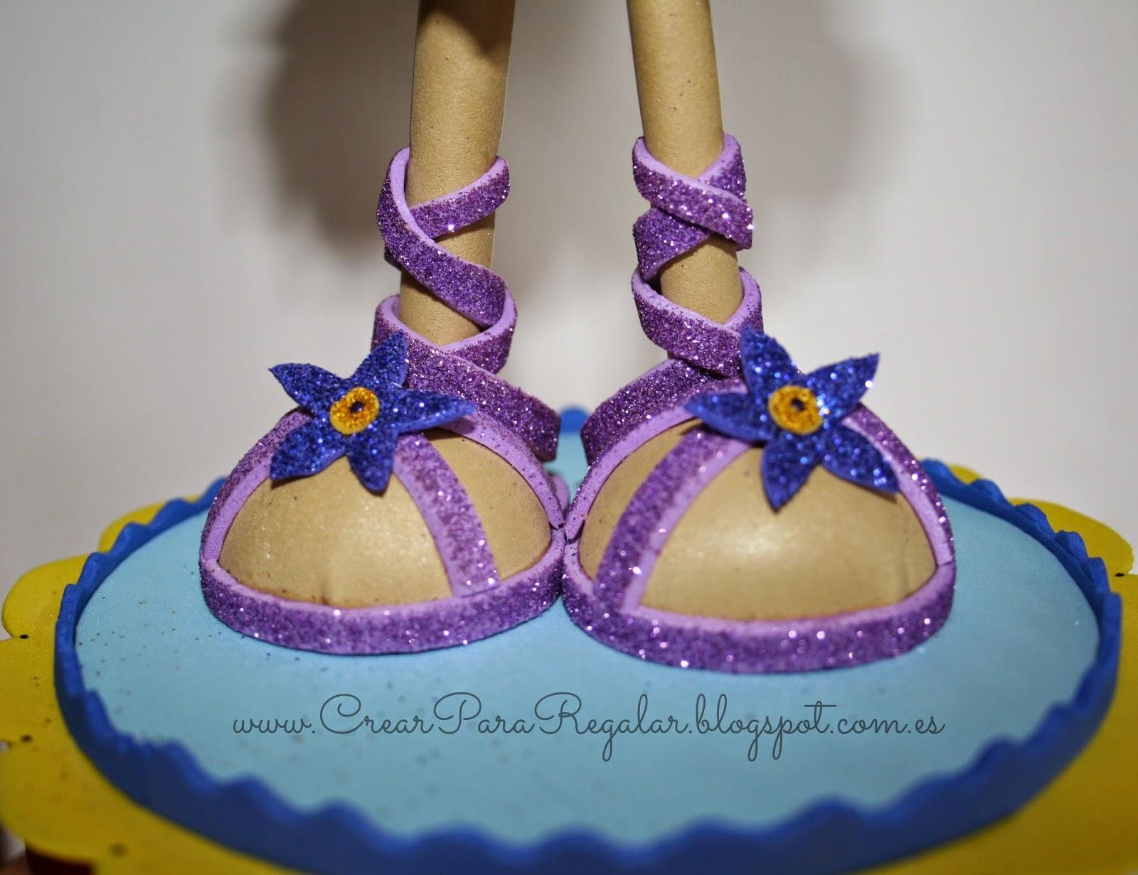 zapatos fofucha hada mariposa