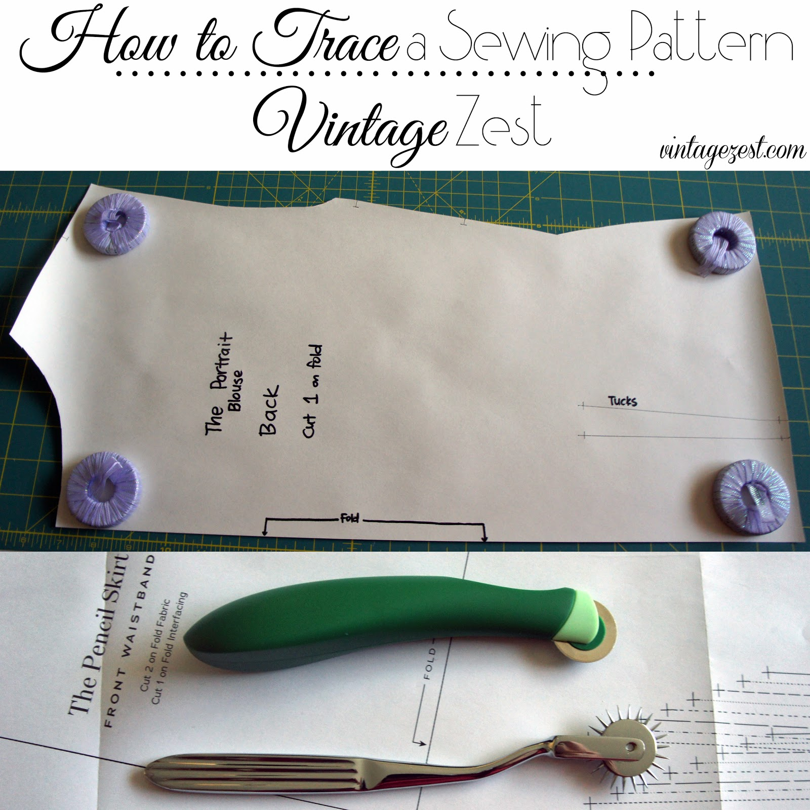 Tutorial: How to Trace a Sewing Pattern on Diane's Vintage Zest!