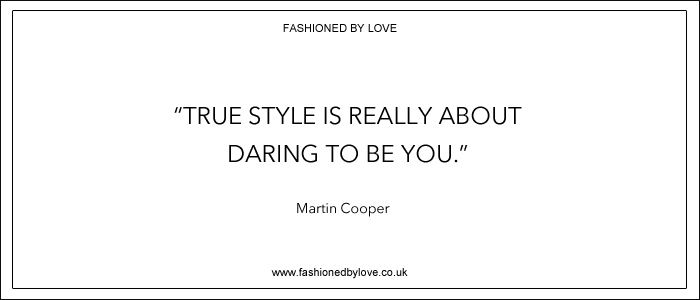 via fashioned by love | best fashion & style quotes | Martin Cooper