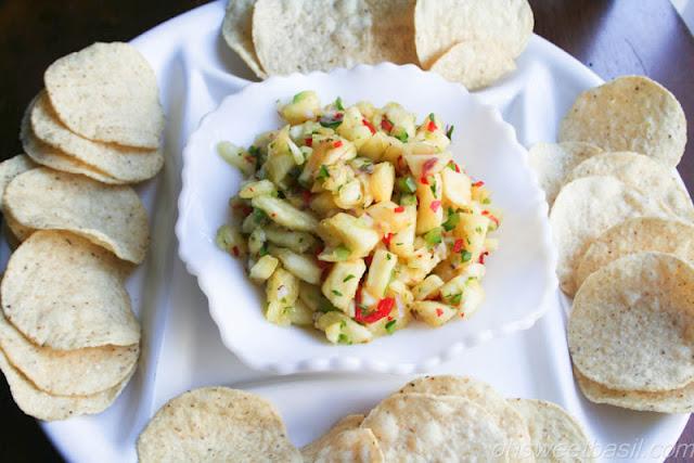 Pineapple Salsa ohsweetbasil.com