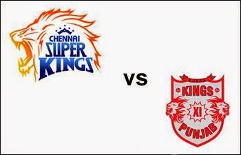 Chennai Super Kings and Kings XI Punjab