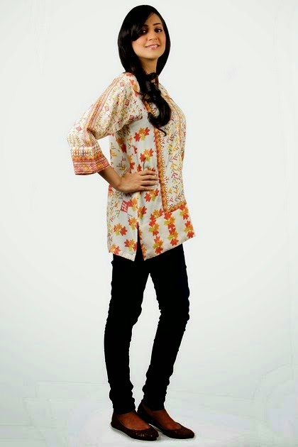 Kurti with Semi Embroidered Fashion