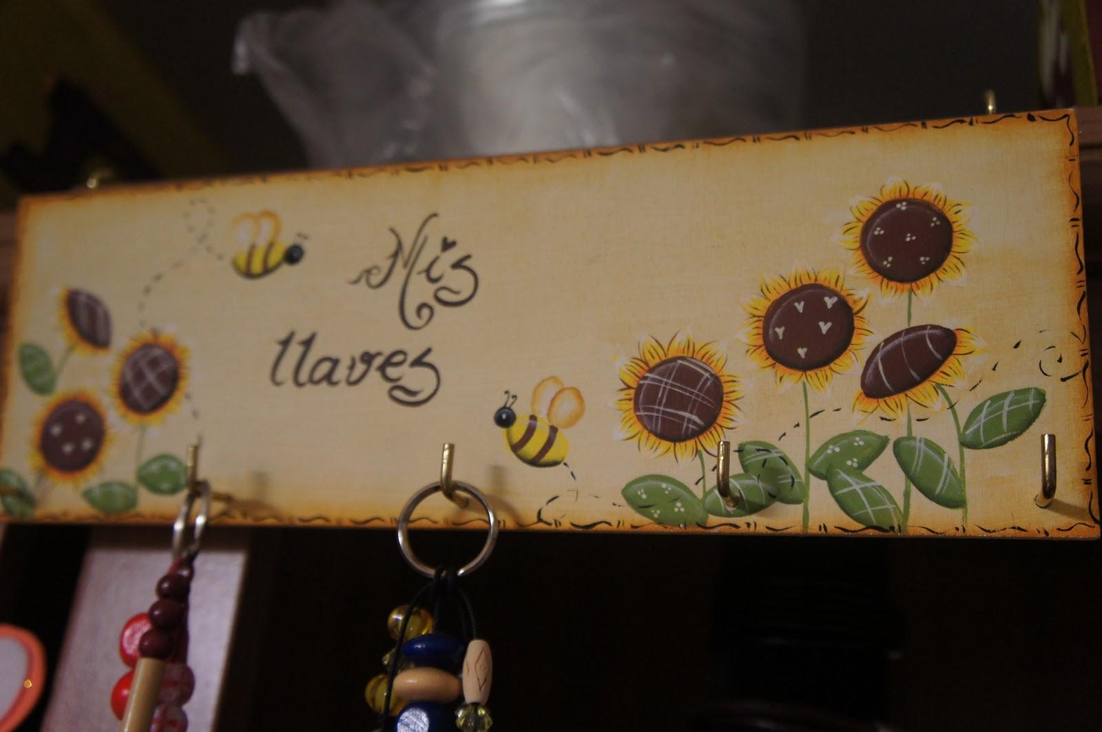 Artesania abona cuelga llaves cuelga collares y cuelga - Cajas decoradas a mano ...