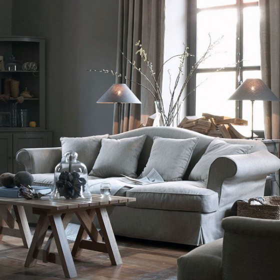 Interior decorations furniture collections furniture for Grey and neutral living room