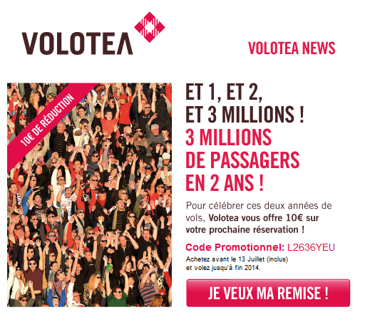 code promo Volotea