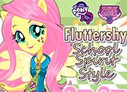 MLPEG Fluttershy School Spirit Style