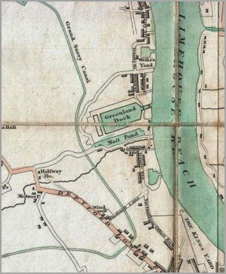 Deptford in Mogg's map, http://www.geographicus.com/mm5/cartographers/