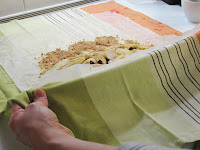 Traditional Apfelstrudel Recipe - rolling strudel