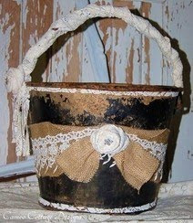Upcycled Recycled Vintage Coal Bucket