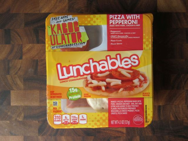Lunchables Pepperoni Pizza Box
