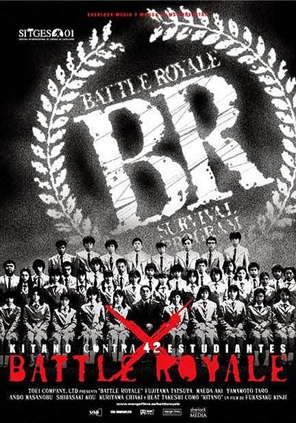 battle royale portada pelicula Kinji Fukasaku Takeshi Kitano Tatsuya Fujiwara Aki Maeda