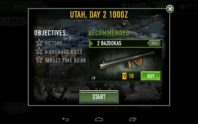 Frontline Commando: Objectives for the mission