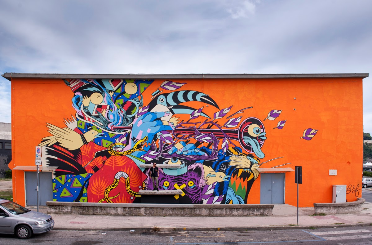 The JustKids eurotour continues with Bicicleta Sem Freio which just completed this sweet new piece somewhere on the streets of Gaeta, Italy.