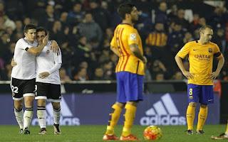 فالنسيا يوقف انتصارات برشلونة ويجبره على التعادل