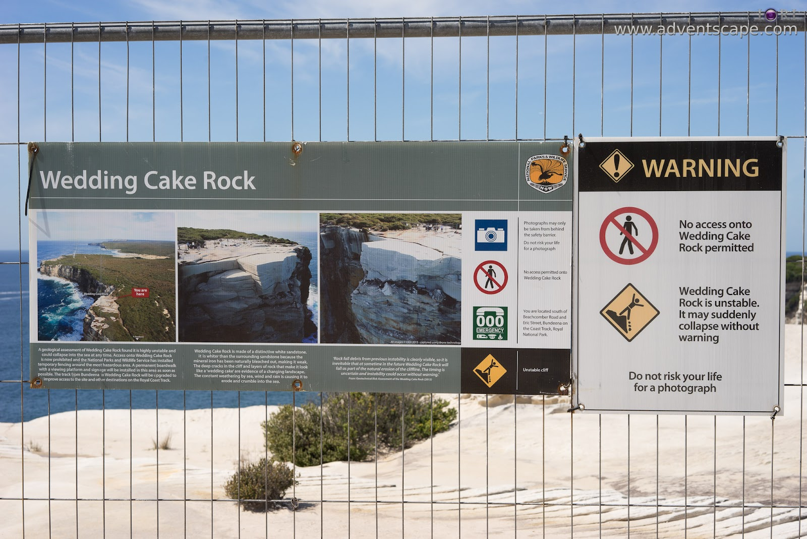 Wedding Cake Rock Nsw Adventscape