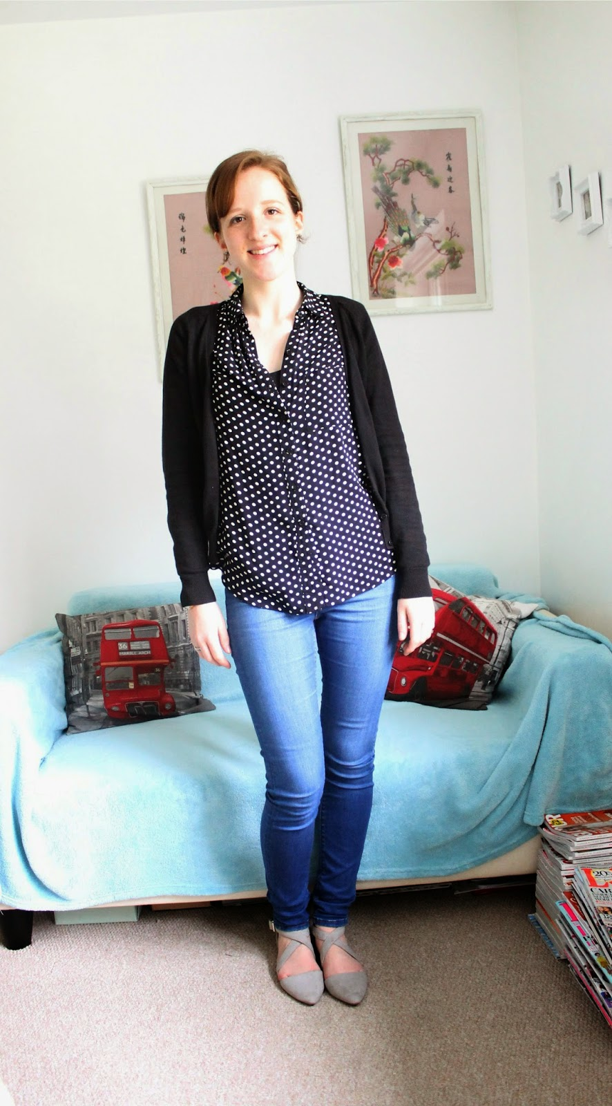 OOTD: Spotty Shirt and Pointy Shoes Primark New Look ASOS H&M