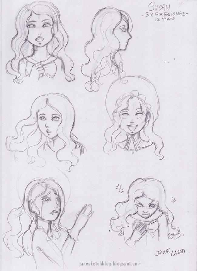 Dibujo a lápiz de expresiones