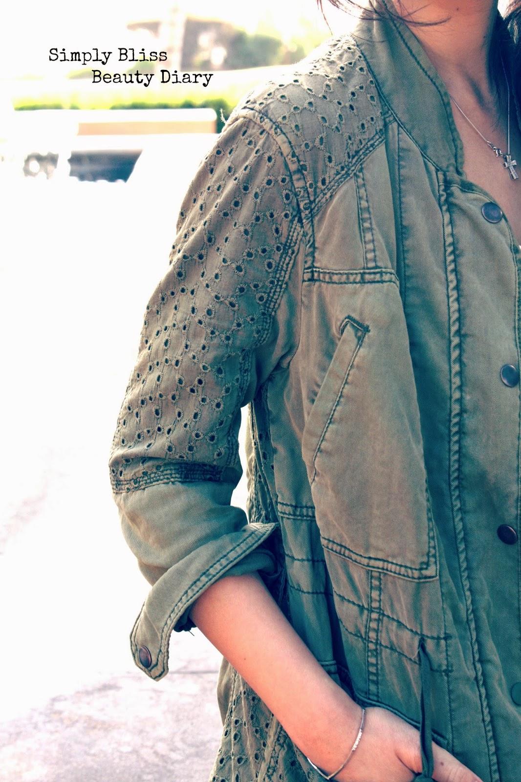 Anthropologie Marais Anorak Military Jacket petite xxs