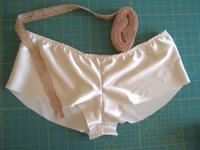 Sewing lace to underwear