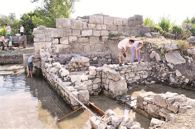 The second synagogue from the Lycian civilization has been discovered in Finike [Credit: Hurriyet/AA]