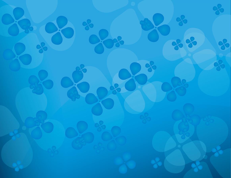青い四つ葉のクローバーの背景 Floral blue vector background イラスト素材