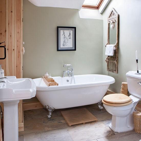 Amenajare baie cu lemn de pin jurnal de design interior for Dulux bathroom ideas