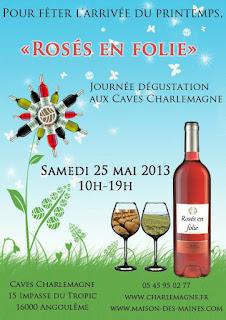 french village diaries Poitou Charentes Angouleme wine Charlemagne Rosés en Folie
