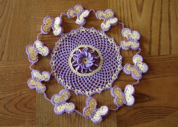 Free Crochet Patterns For Butterfly Doilies : Exquisite Thread Crochet Dainties: Butterfly Doily ...