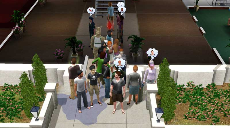 Too many sims trying to get through a door all at once