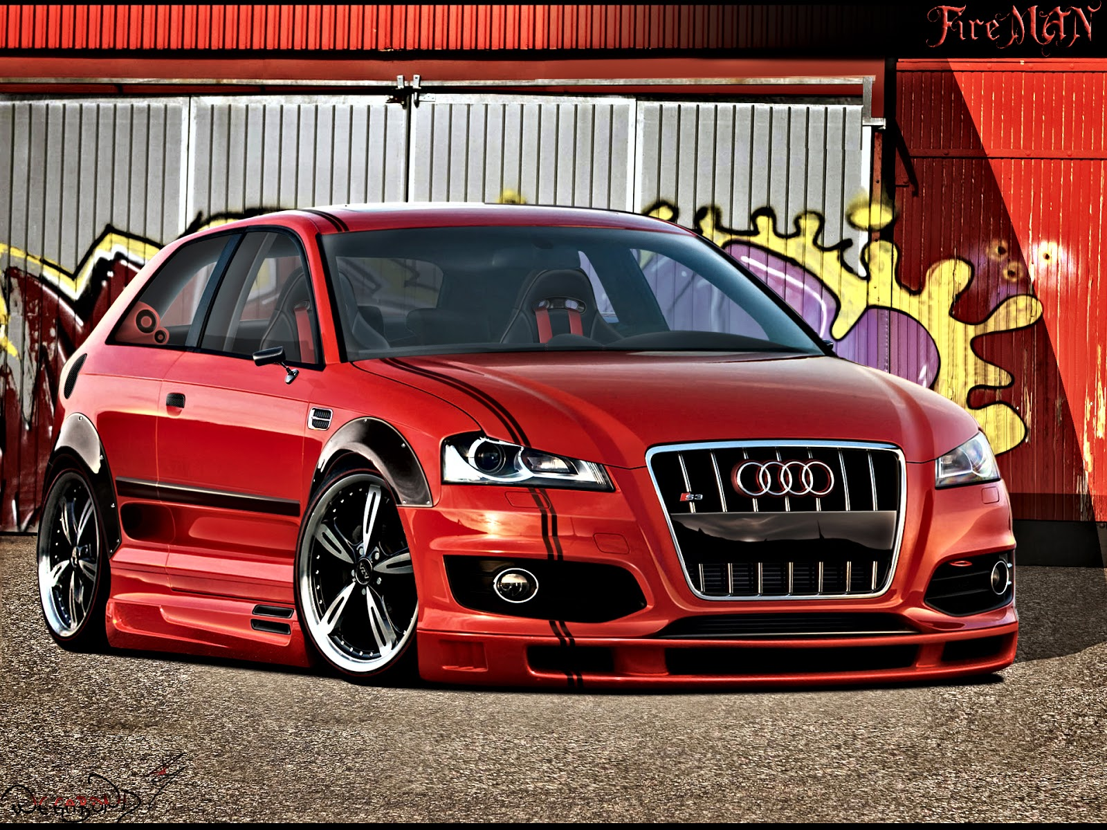 Audi A3 Sportback Tuning Photoshop Tuning Virtual Tuning