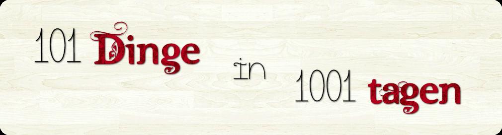 101 Dinge in 1001 Tagen
