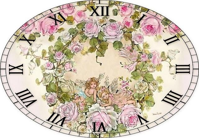 Вышивки часов и циферблатов