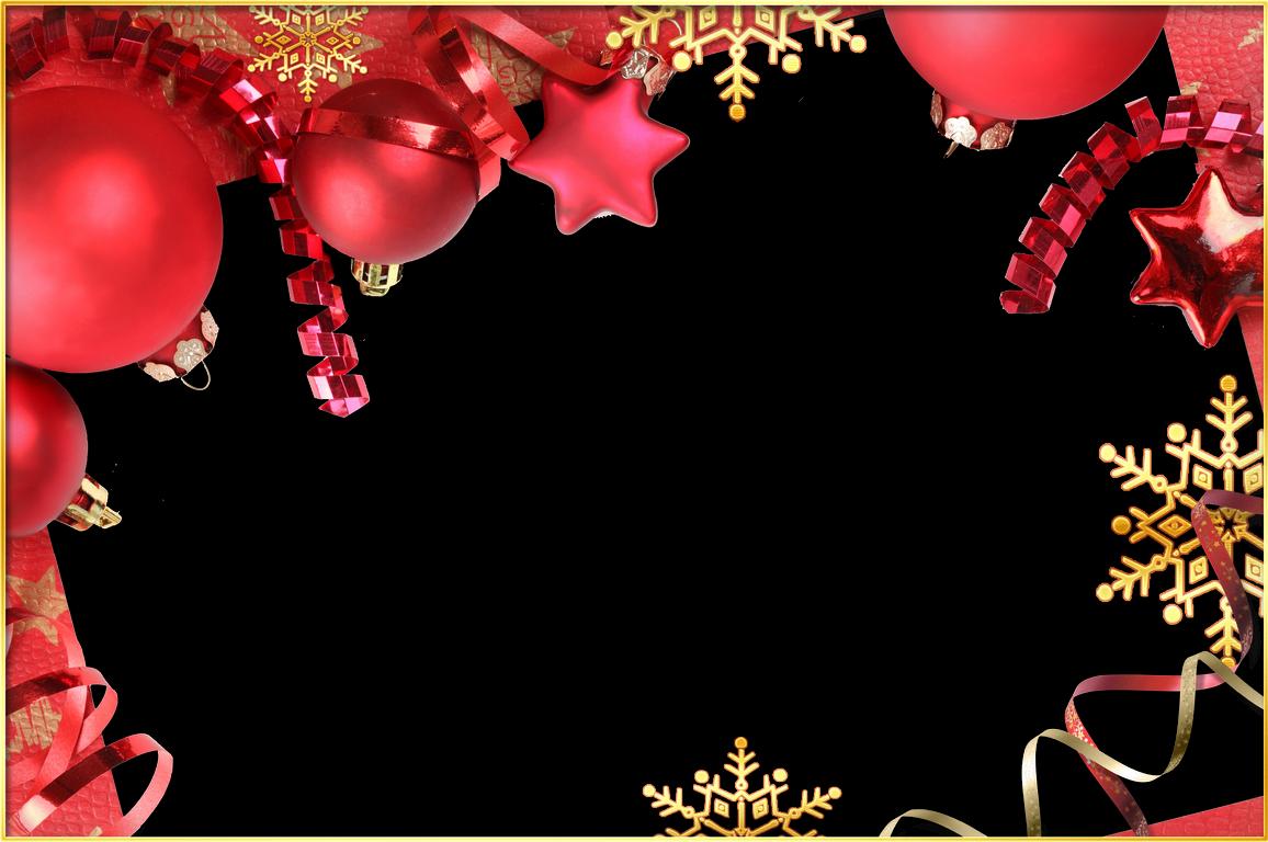 5 Marcos de Fotos de Navidad color Rojo ~ Marcos Gratis para ...