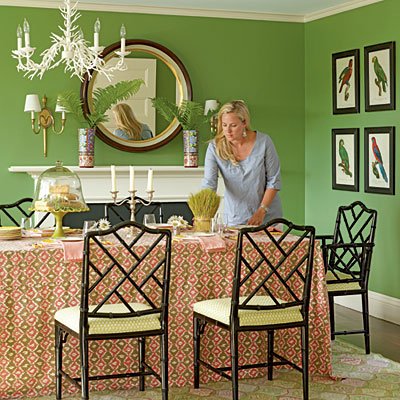 Preppy pink and green home decor driven by decor for Preppy home decor