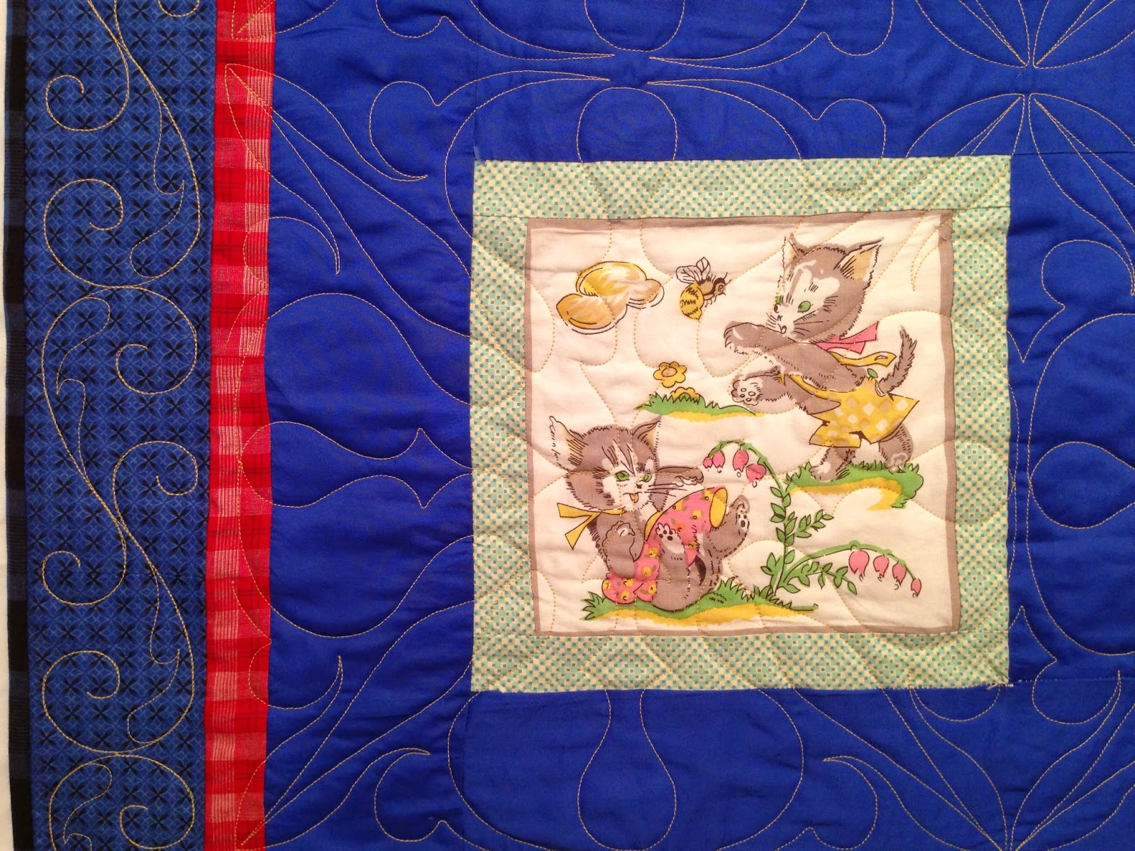 Paula Bergstrand's Blue Block Quilt