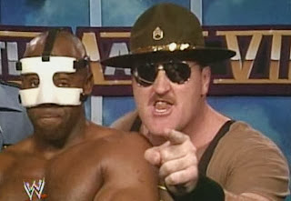 WWF / WWE: WRESTLEMANIA 8 - Sgt. Slaughter and Virgil teamed up with The Big Boss Man and Jim Duggan in an eight-man tag match