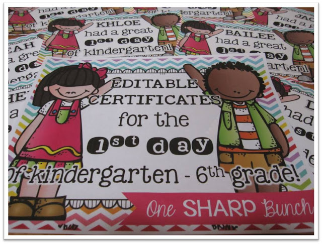 https://www.teacherspayteachers.com/Product/First-Day-of-School-Certificates-EDITABLE-1419837