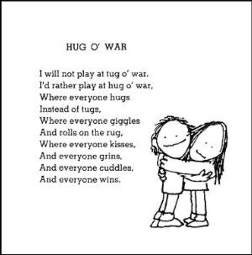 Shel Silverstein Poem Hug O' War