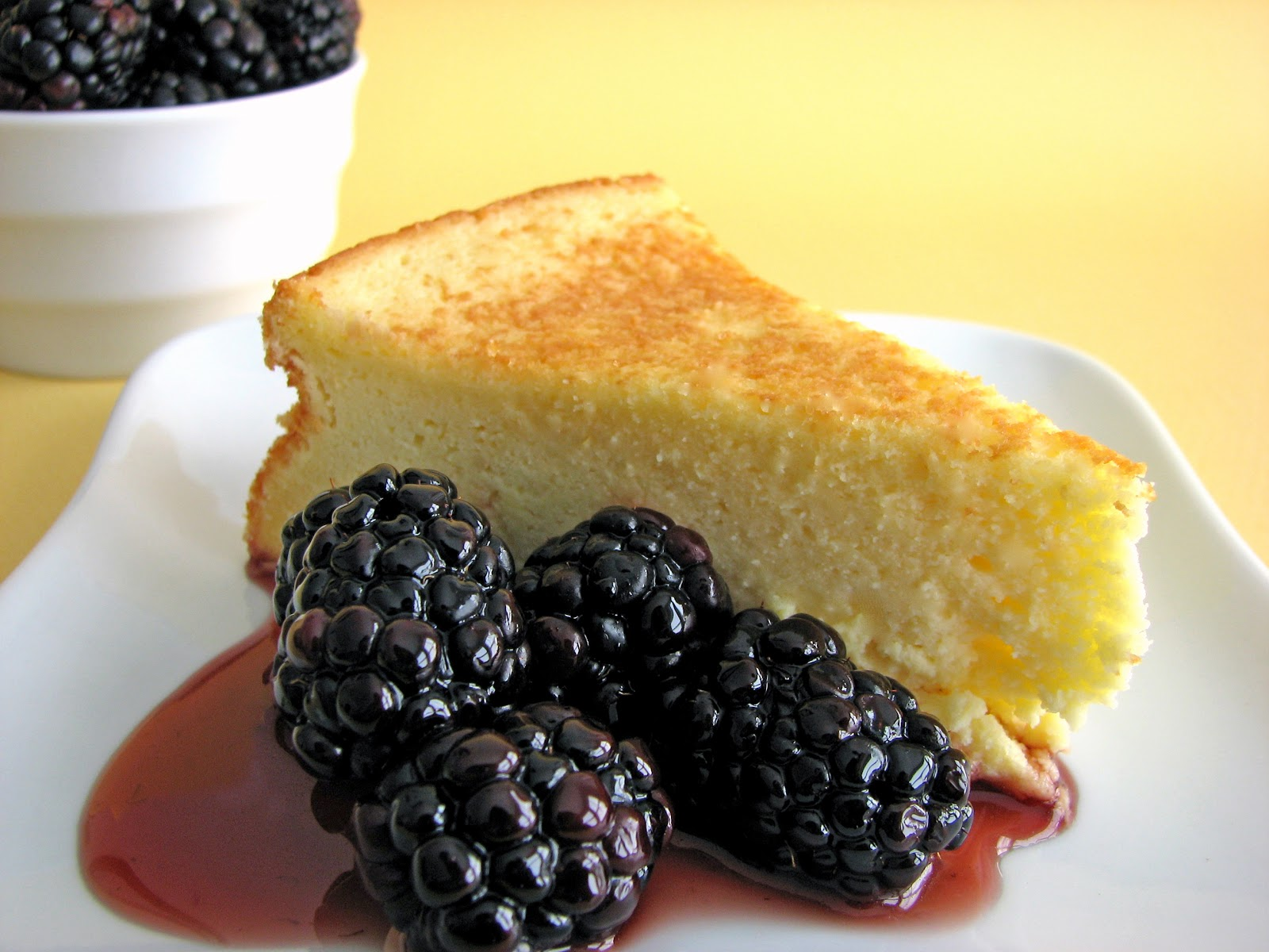 pastry studio: goat cheese cake with berries