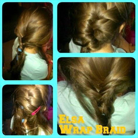 Frozen Hairstyles  elsa wrap braid trial