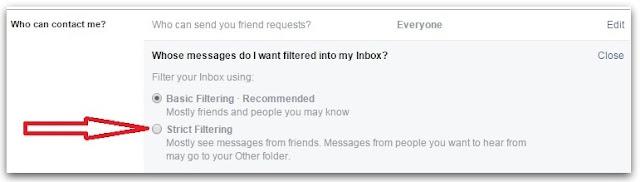 chặn tin nhắn Facebook 2