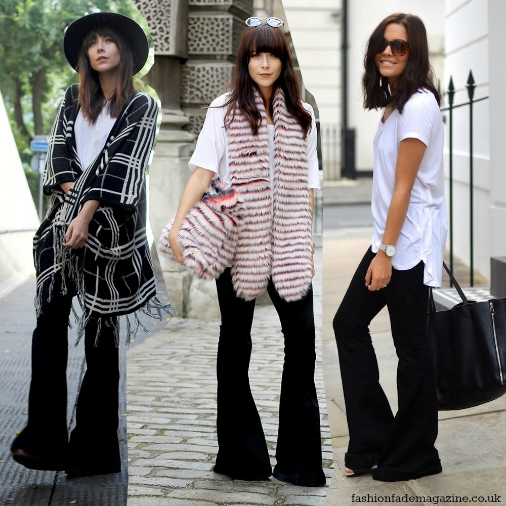ways-to-wear-flares-trend-fall-winter-2014-2015-streetstyle-outfits-looks-flares-flared-jeans-pants-trousers-black