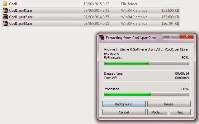 Cara Menggabungkan File ber-part dengan WinRAR