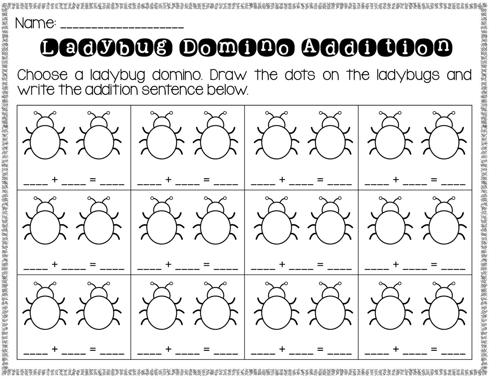 math worksheet : domino addition worksheet blank  worksheets for education : Dominoes Math Worksheets