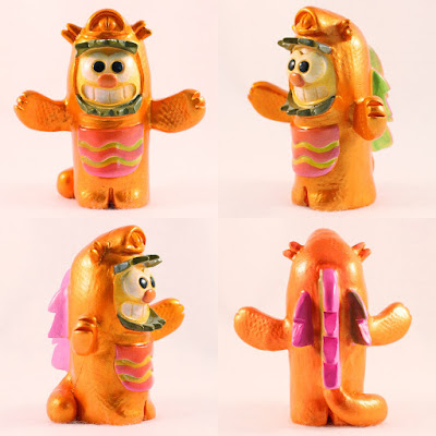 Kawaii Kaiju Purridge Resin Figure by Furry Feline Creatives