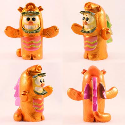 Kawaii Kaiju Purridge Resin Figure by Furry Feline Creatives