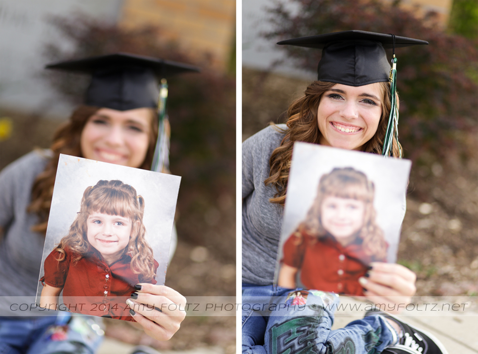 senior holding kindergarten photo - Terre Haute photographer